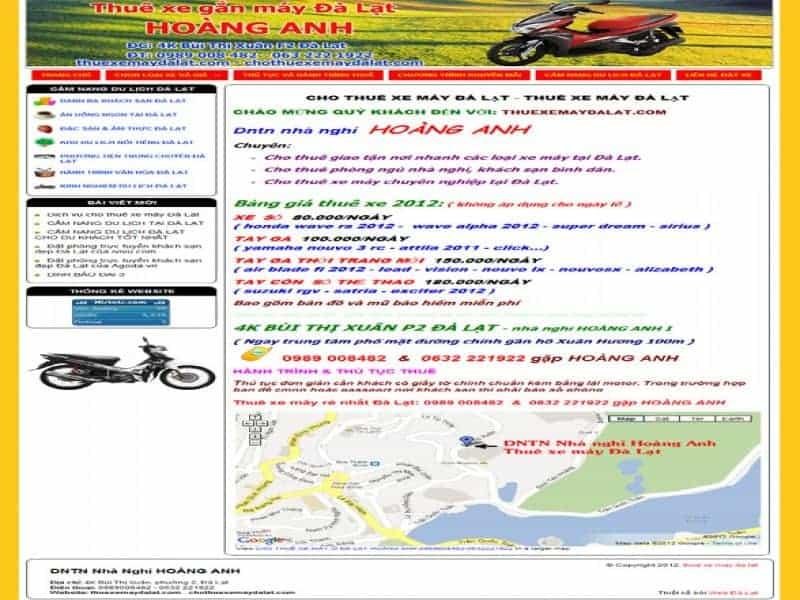 Thuê xe máy Hoàng Anh